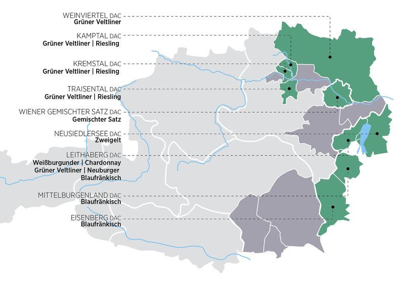 DAC-Gebiete in Österreich
